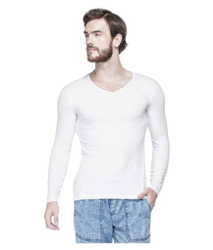Tinted White V-Neck T-Shirt