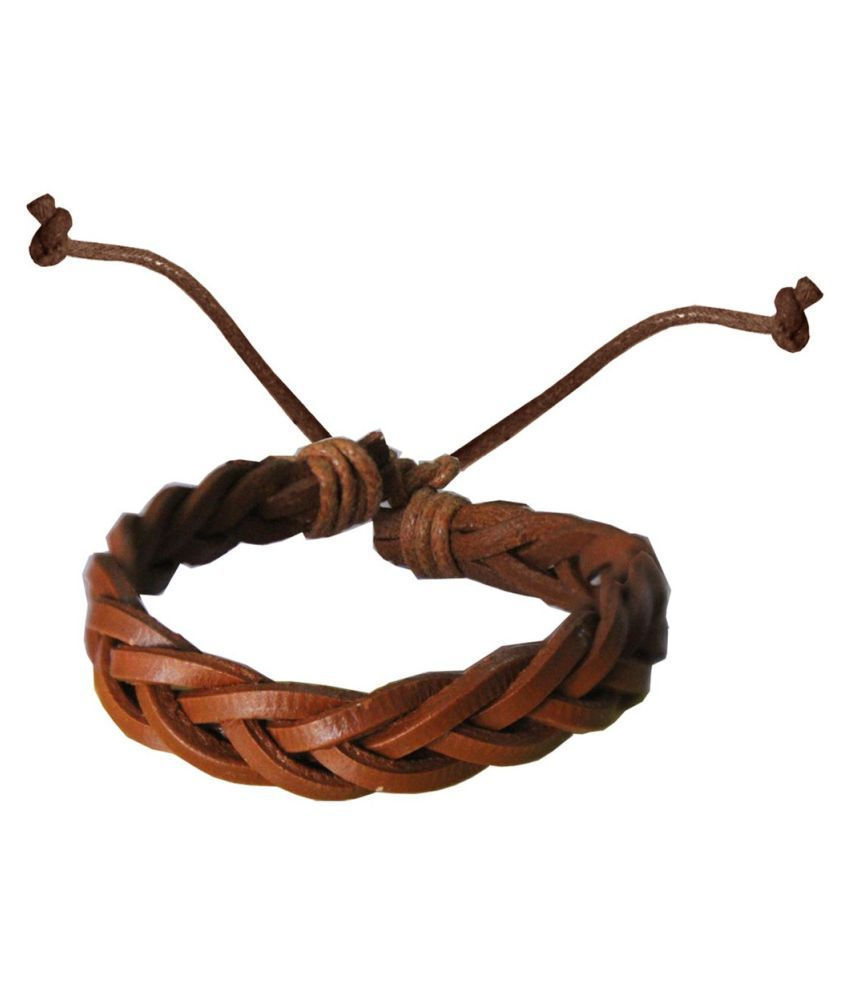 Mens Jewell Brown Bracelet