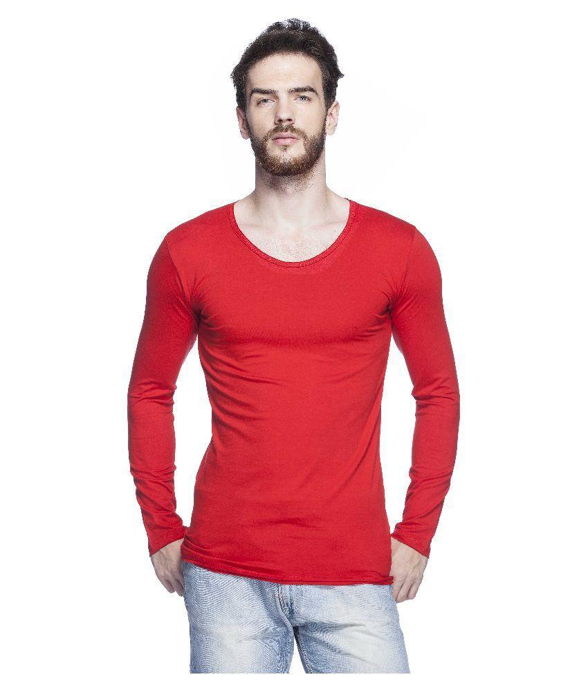 Tinted Red Round T-Shirt
