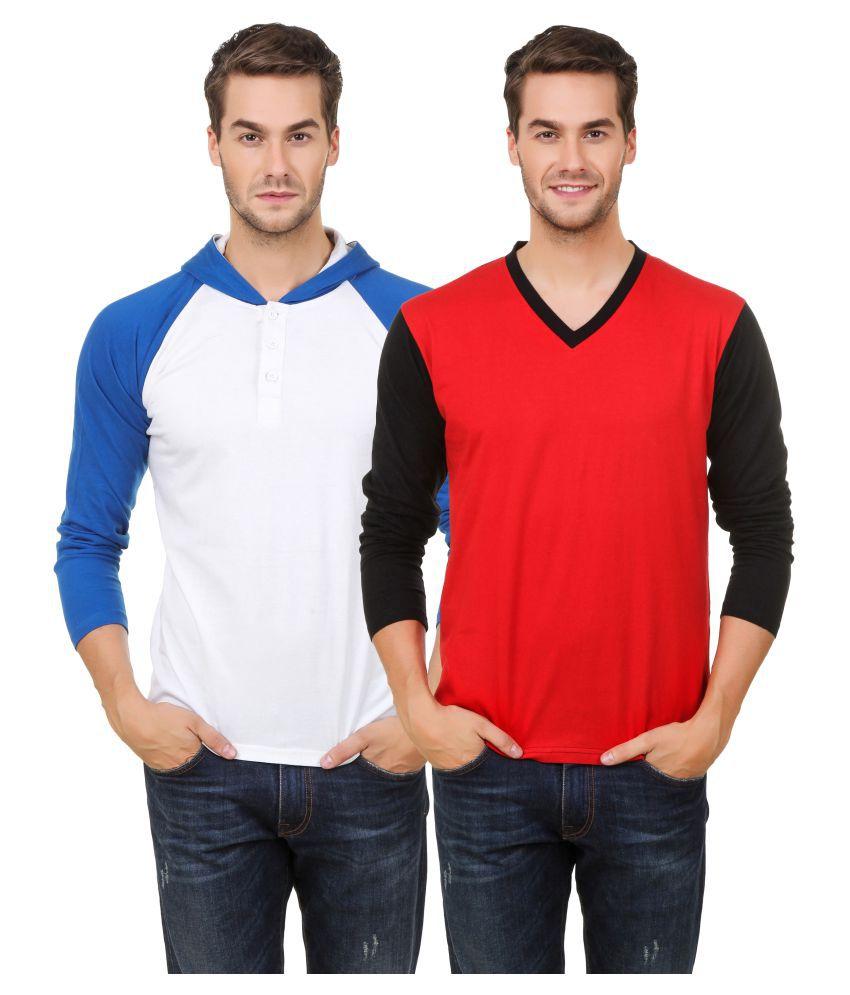 Hue Zephyr Multi Hooded T-Shirt Pack of 2