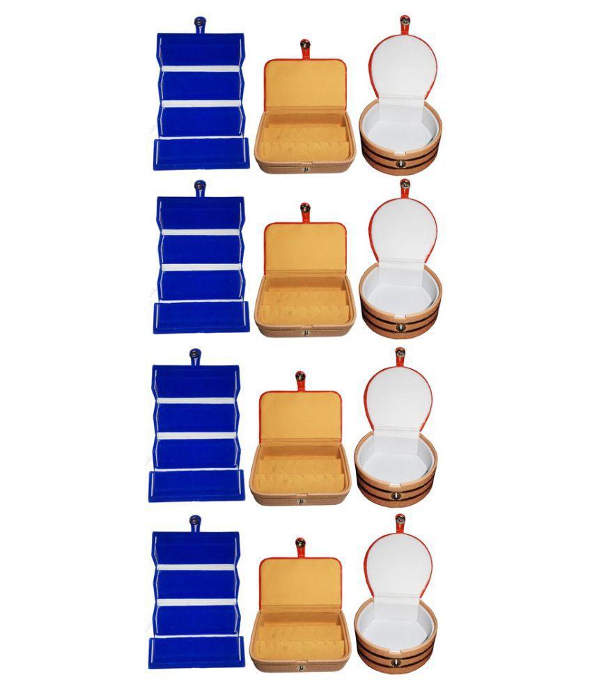 Abhinidi Combo of Multicolour Four Earring Folder, Four Earring Box & Four Bangle Box