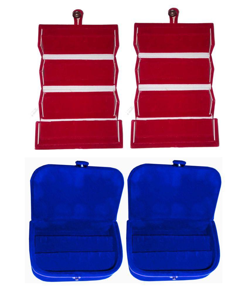 Abhinidi Multicolour Wooden Jewellary Boxes - Set of 4
