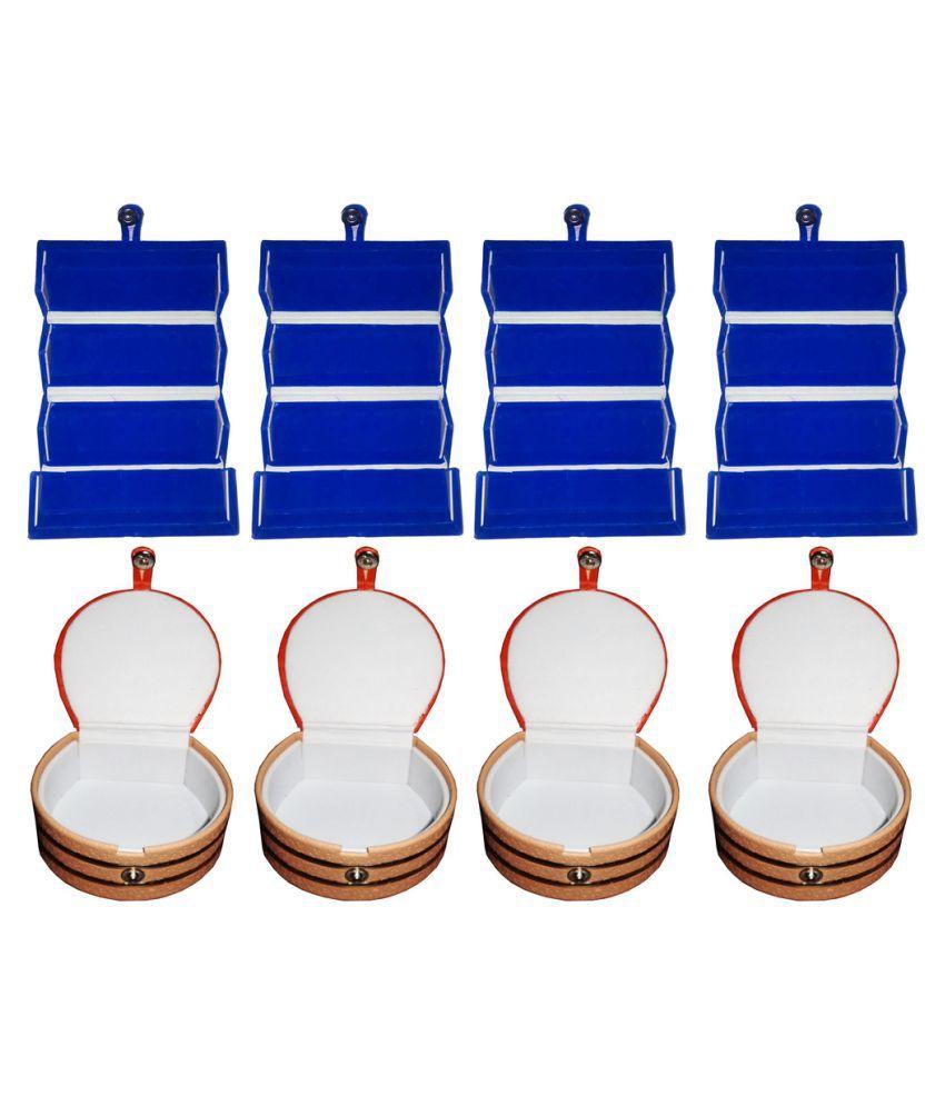 Abhinidi Multicolour Wooden Ring Box - Pack of 8