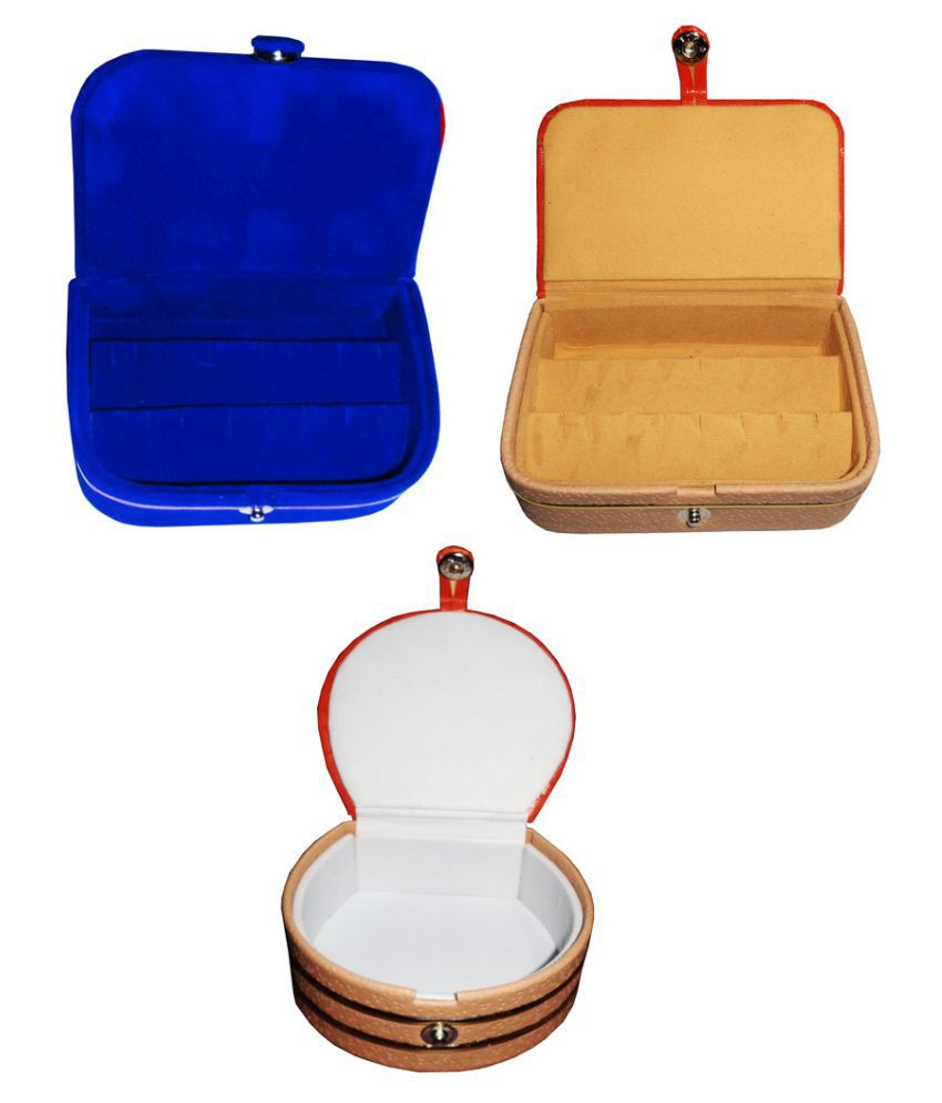 Abhinidi Multicolour Wooden Ring Box - Pack of 3