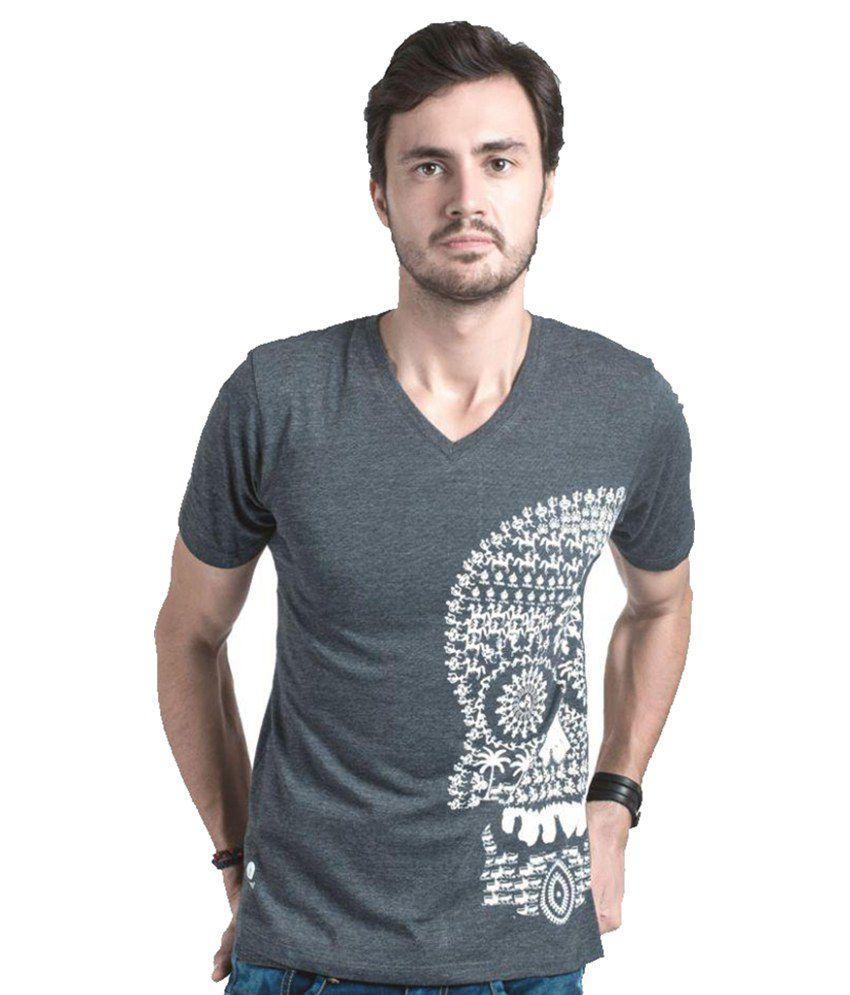 Ahem ! Grey Round T-Shirt