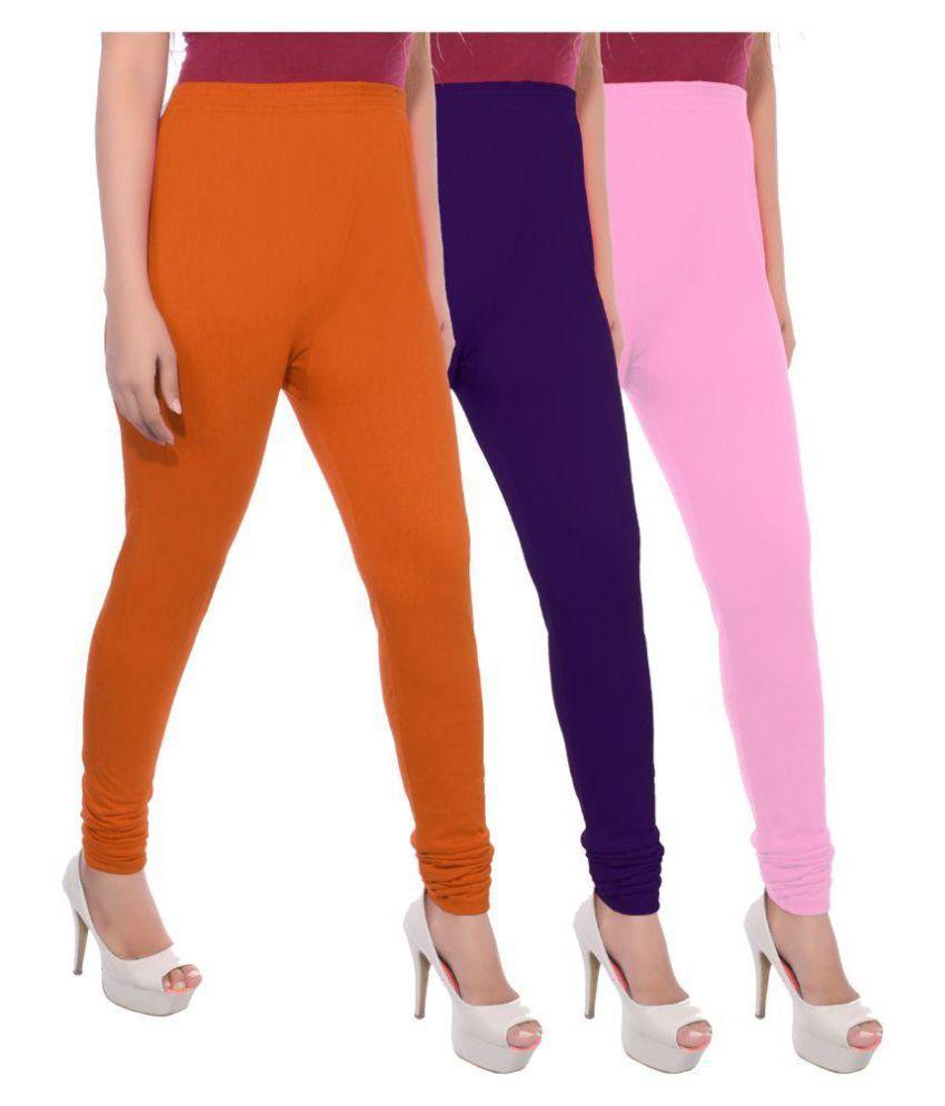 Apple Knitt Wear Cotton Pack of 3 Leggings