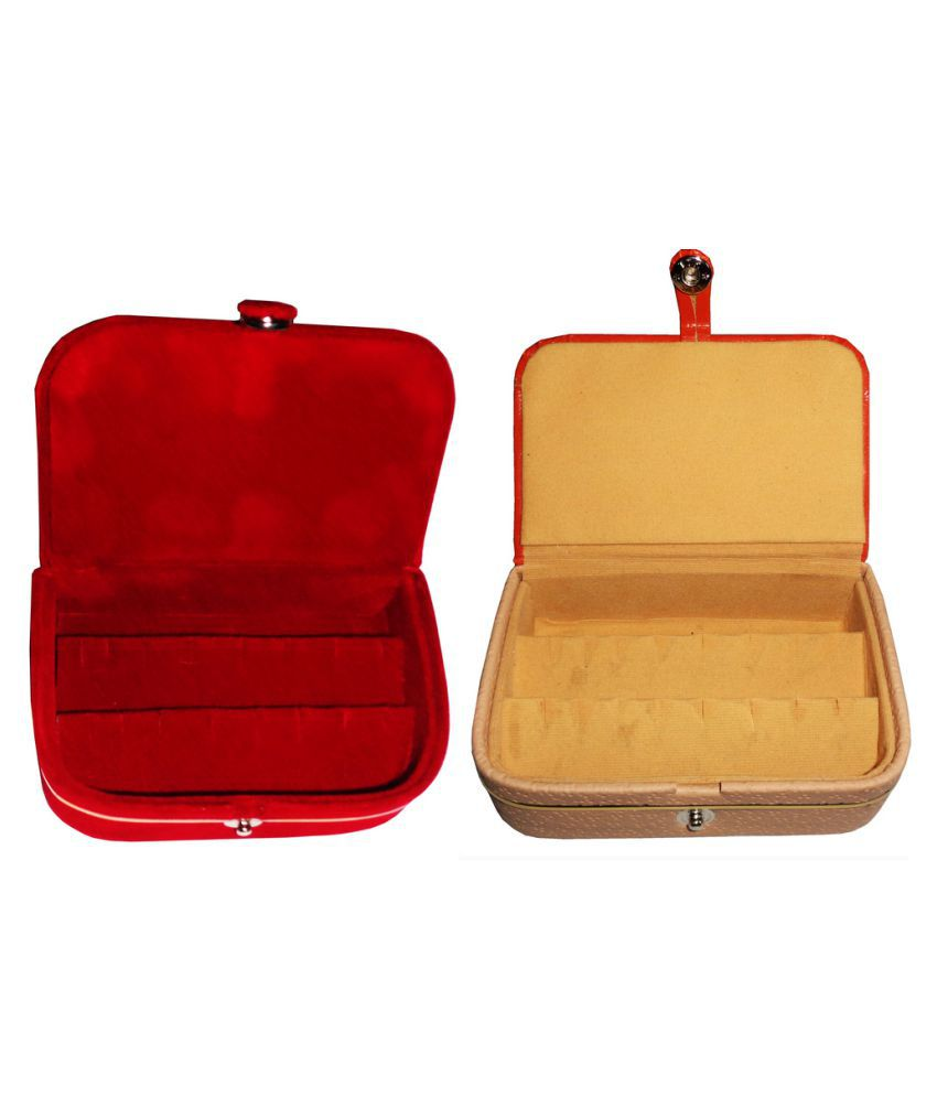 Abhinidi Combo of Multicolour Earrings Box and Earrings Vanity Case