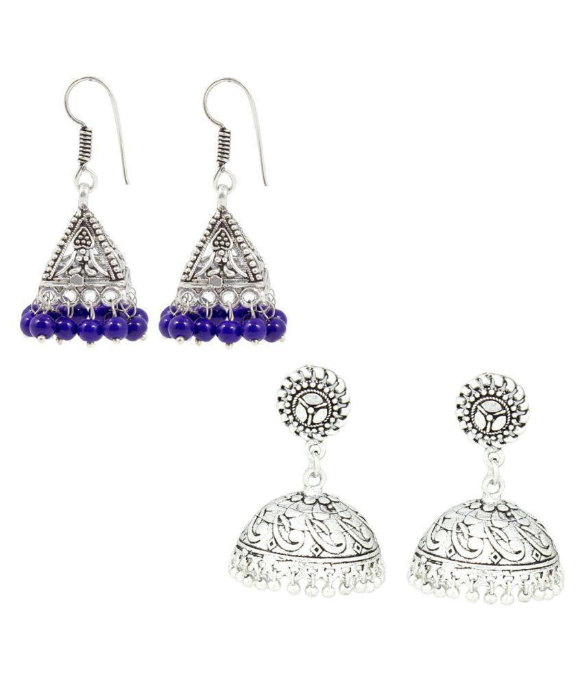 Frabjous Multi Color Earrings - Set of 2