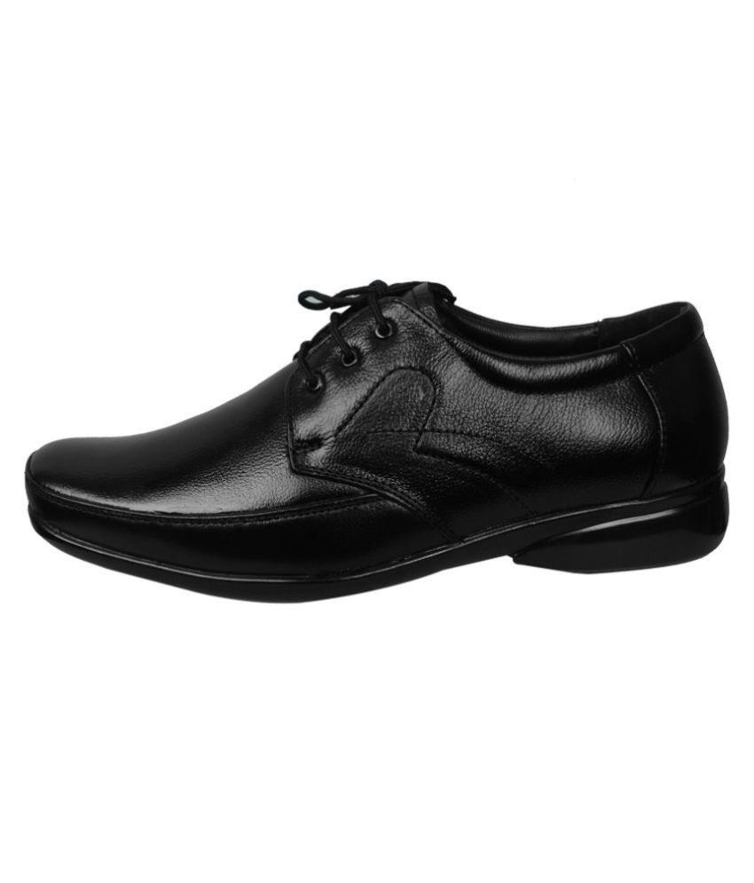 254a55cdb26 Feetway Black Office Genuine Leather Formal Shoes Feetway Black Office Genuine  Leather Formal Shoes ...