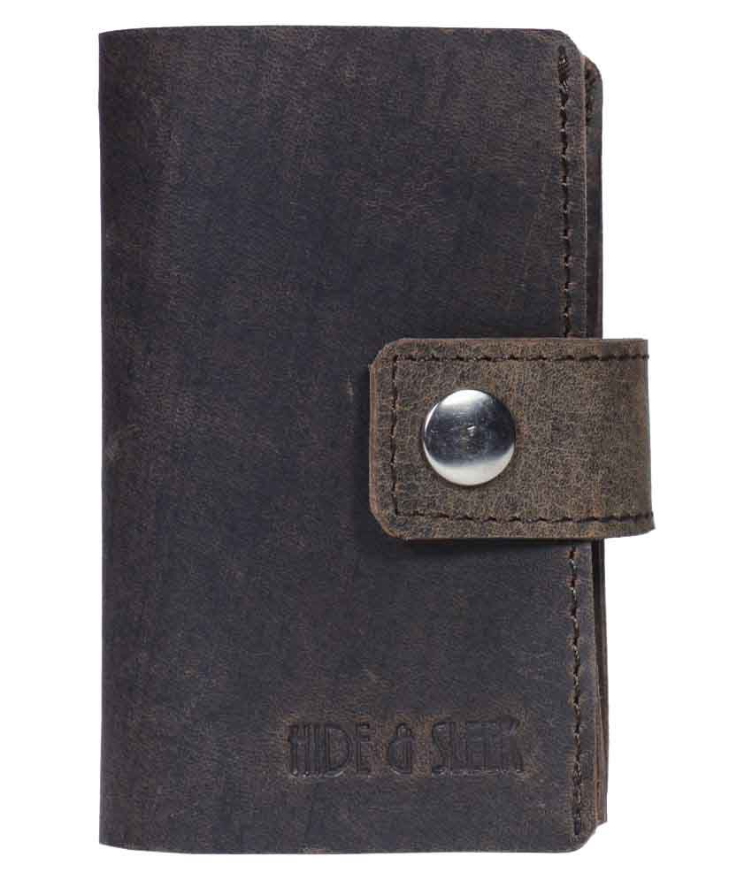Hide&Sleek Bi-Fold Brown Card Holder