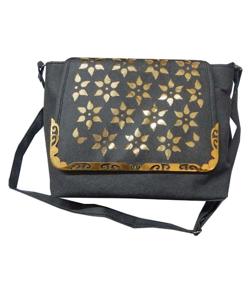 Navaksha Gray Fabric Sling Bag