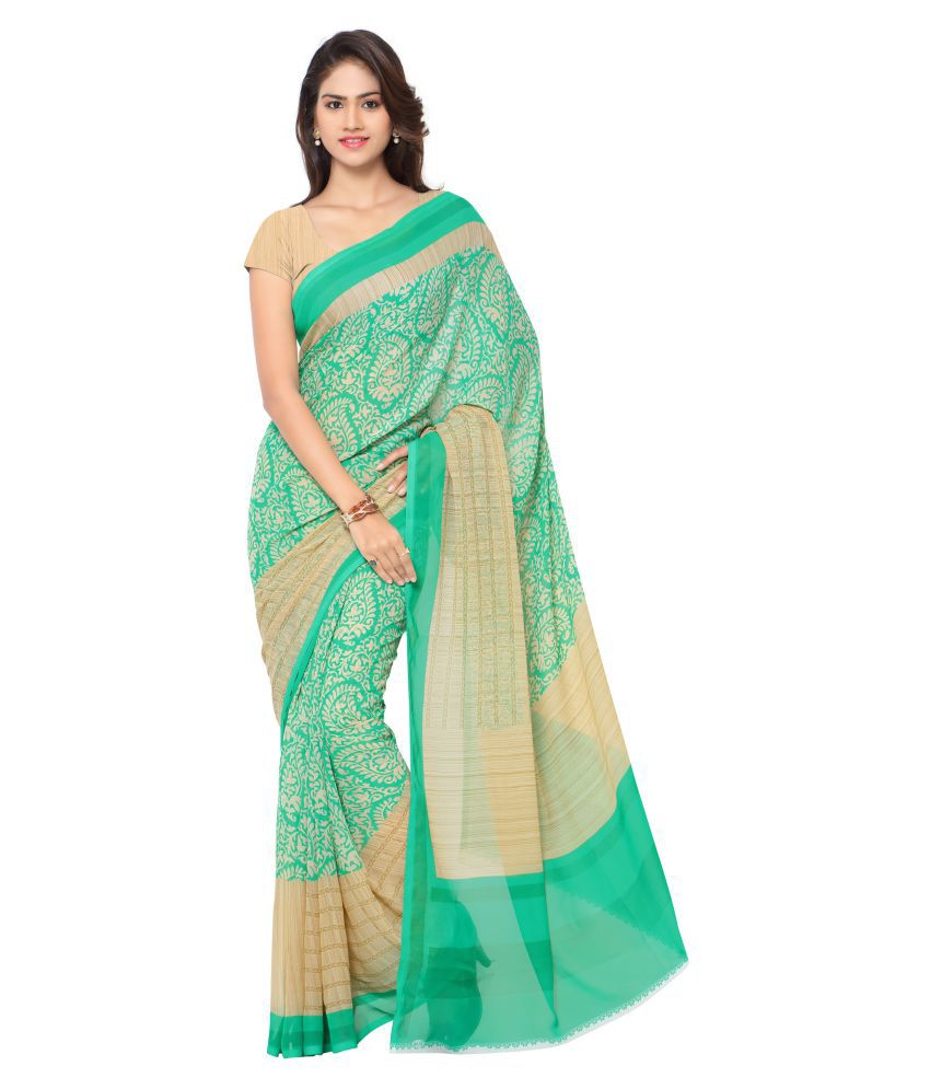 Fashion Studio Multicoloured Georgette Saree