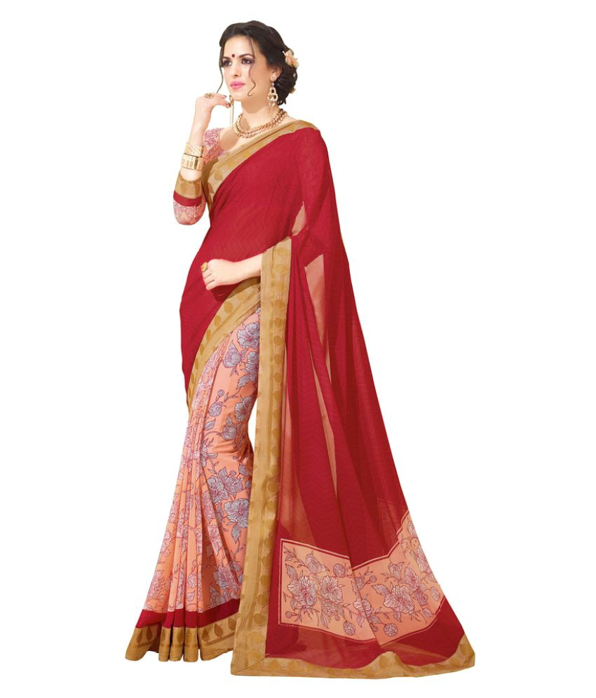 6ea70291f78 Vipul Sarees Multicoloured Georgette Saree - Buy Vipul Sarees Multicoloured  Georgette Saree Online at Low Price - Snapdeal.com