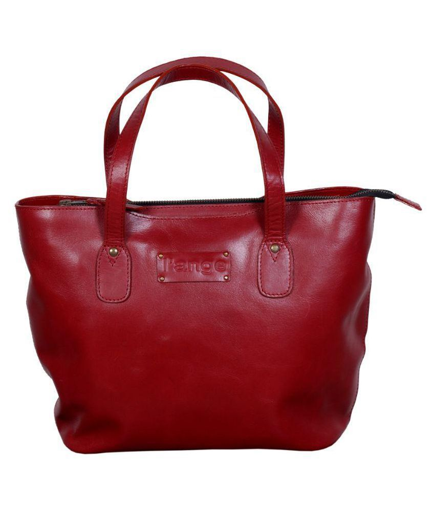 L'ange Maroon Pure Leather Shoulder Bag