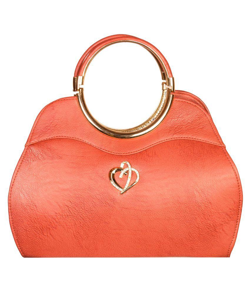 Louise Belgium Pink Faux Leather Handheld