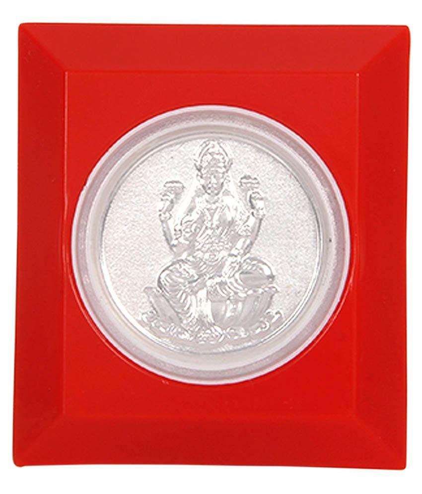 Silverwala No 50 Gm Silver Laxmi Coin Buy Silverwala No