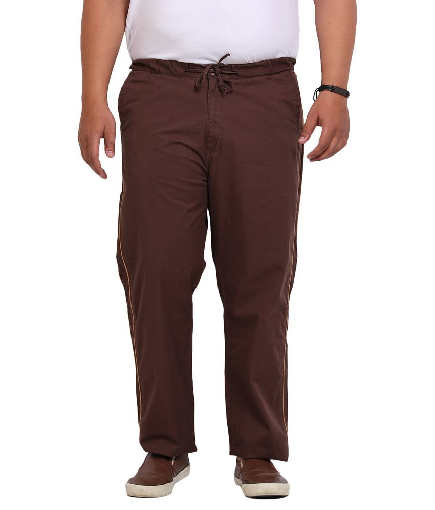 John Pride Brown Loose Flat Trouser