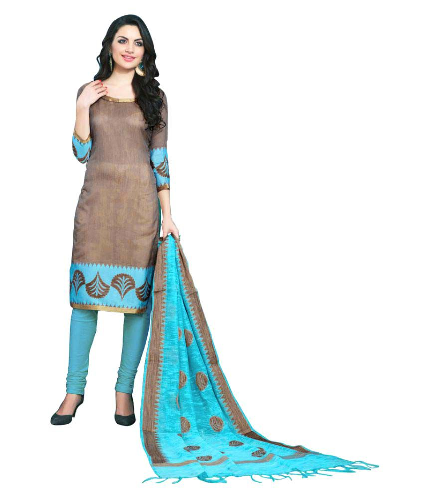 384b96eac7 Price Bet Grey and Beige Banarasi Silk Dress Material - Buy Price Bet Grey  and Beige Banarasi Silk Dress Material Online at Best Prices in India on  Snapdeal