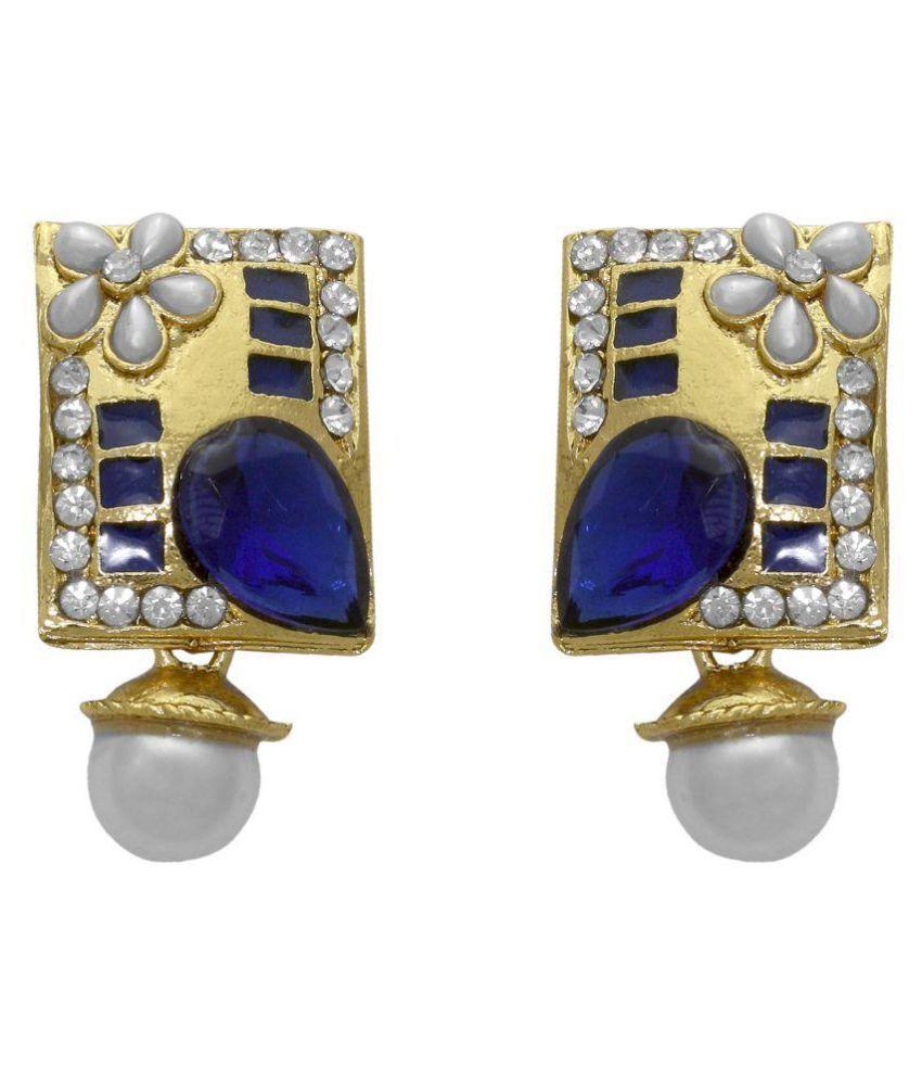 La Trendz Multicolour Hanging Earrings