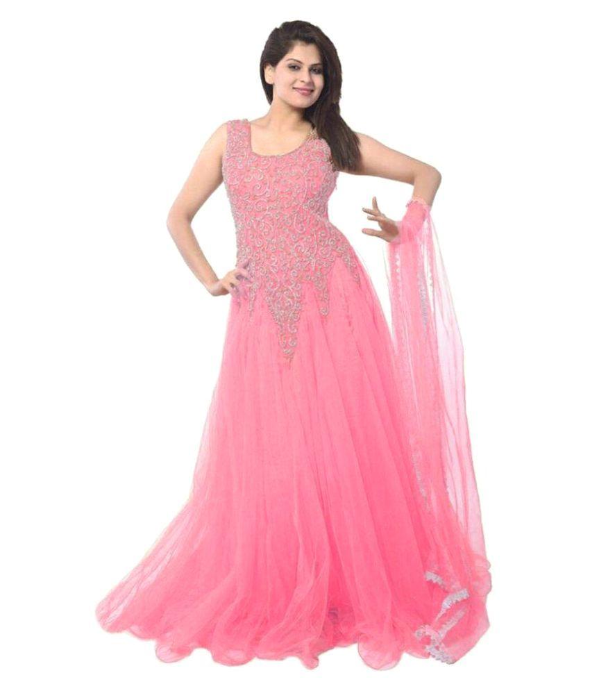 Murliwale Baby Pink Net Gown - Buy Murliwale Baby Pink Net Gown ...