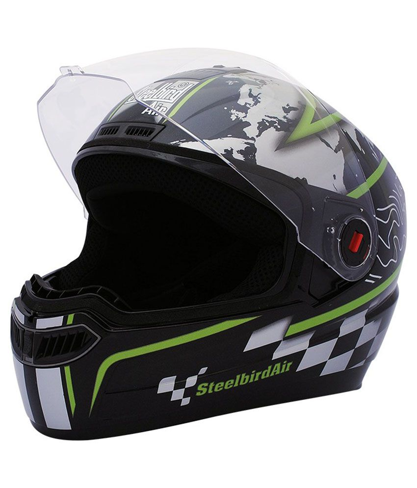 e7ece7f65 Steelbird Air SBA-1 Racer - Full Face Helmet Matte Black L  Buy Steelbird Air  SBA-1 Racer - Full Face Helmet Matte Black L Online at Low Price in India  on ...