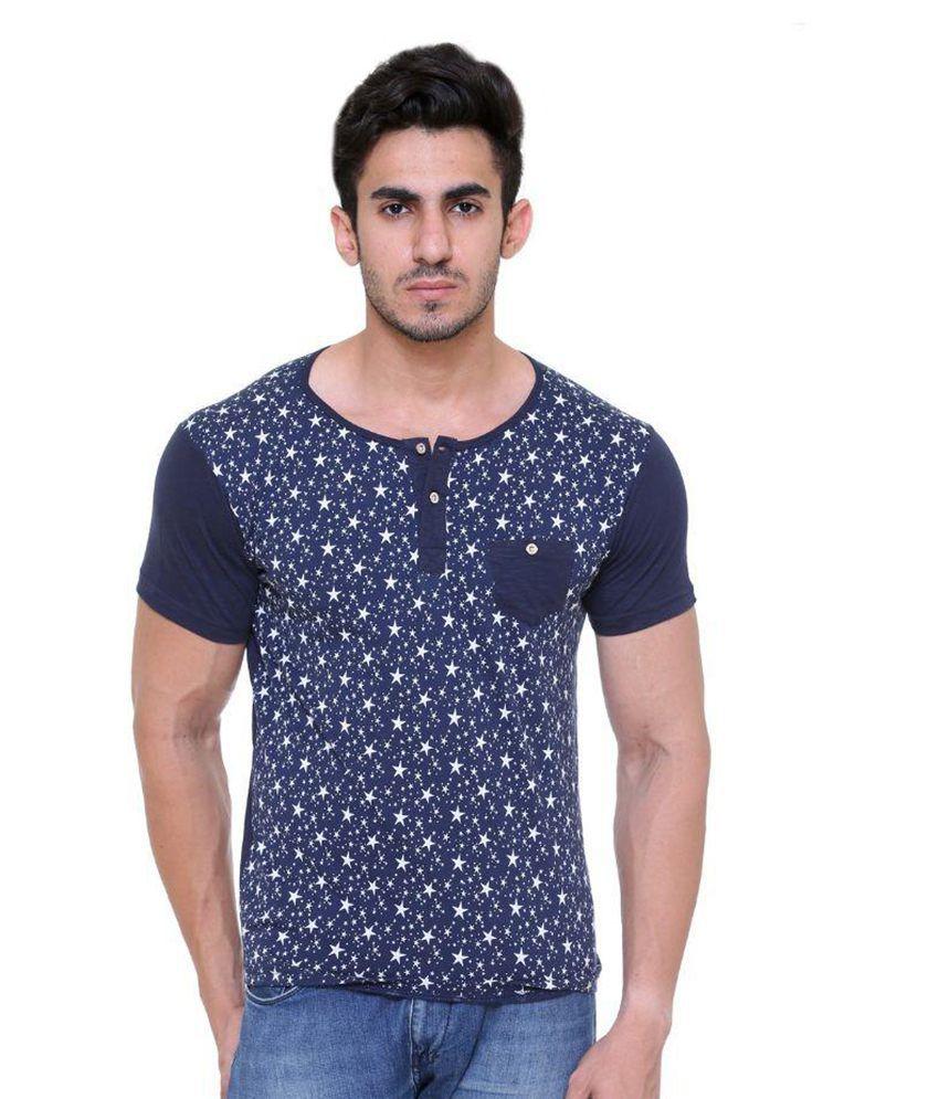 Hikes Blue Henley T-Shirt