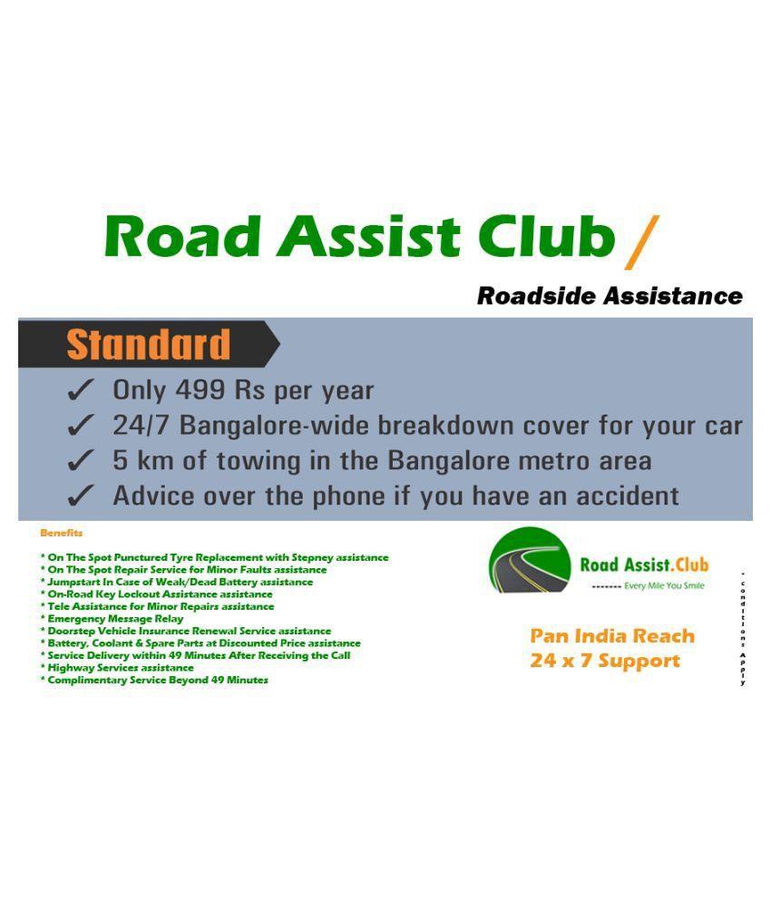 Road Assist Club Roadside Assistance - Standard Plan: Buy Road