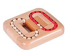 3 D Brain Teaser Wooden Ball Maze Puzzles Board Game Educational Toy For Kids And Adults