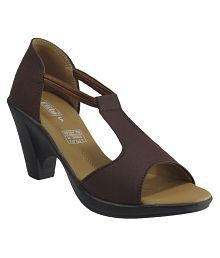 Elite Brown Block Heels