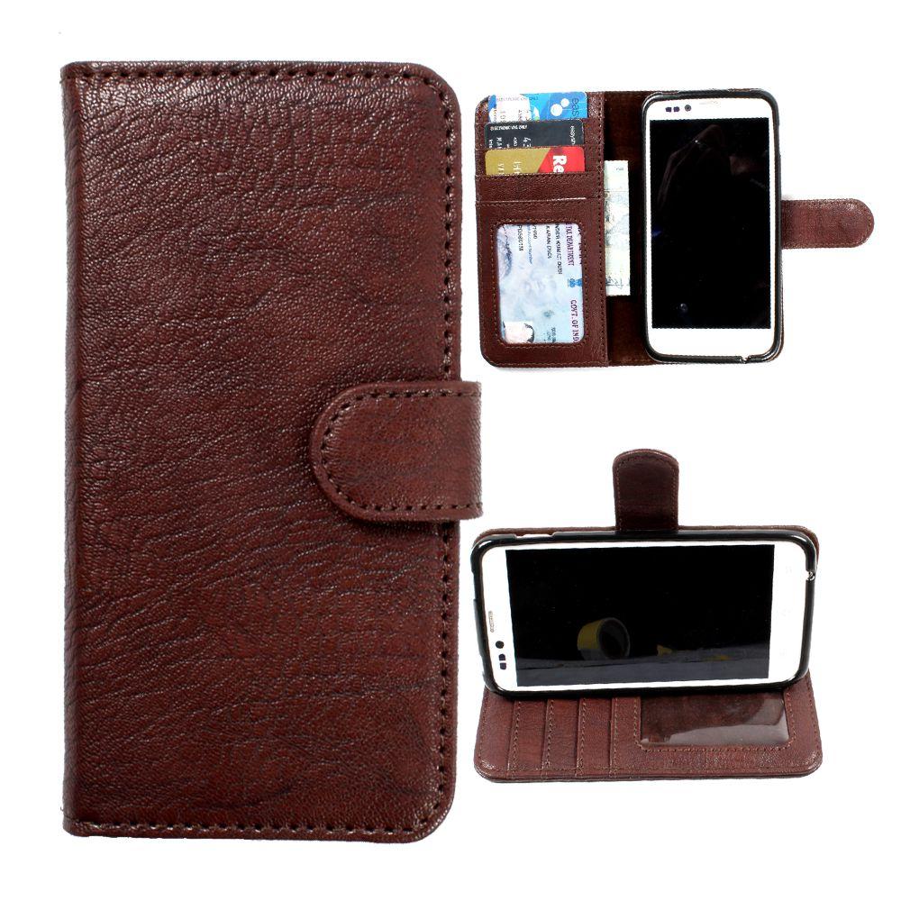 Nokia Lumia 640 XL Flip Cover by DooDa - Brown