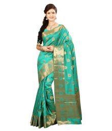 Ishin Green Tussar Silk Saree