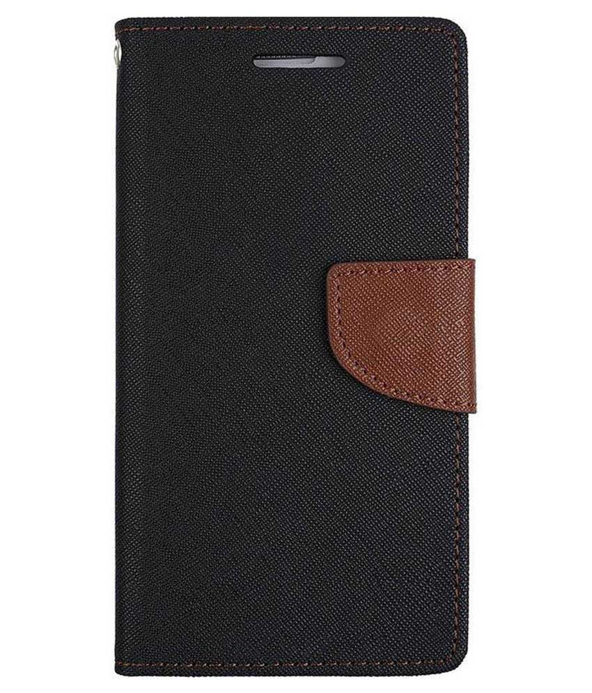 Micromax Yu Youphoria Flip Cover by Kosher Traders - Brown