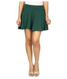 Loverlobby Green Cotton Skater Skirt