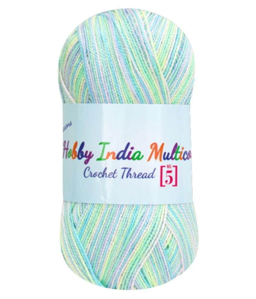 acbbf82afc11 Ganga Acrowools Multicolour Crochet Thread - Set of 3  Buy Online at ...