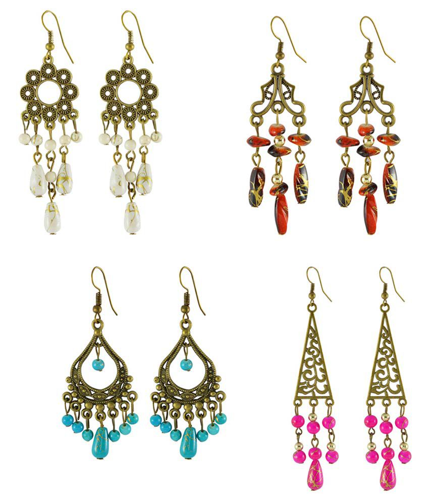 Sarah Multicolor Designer Earrings Combo