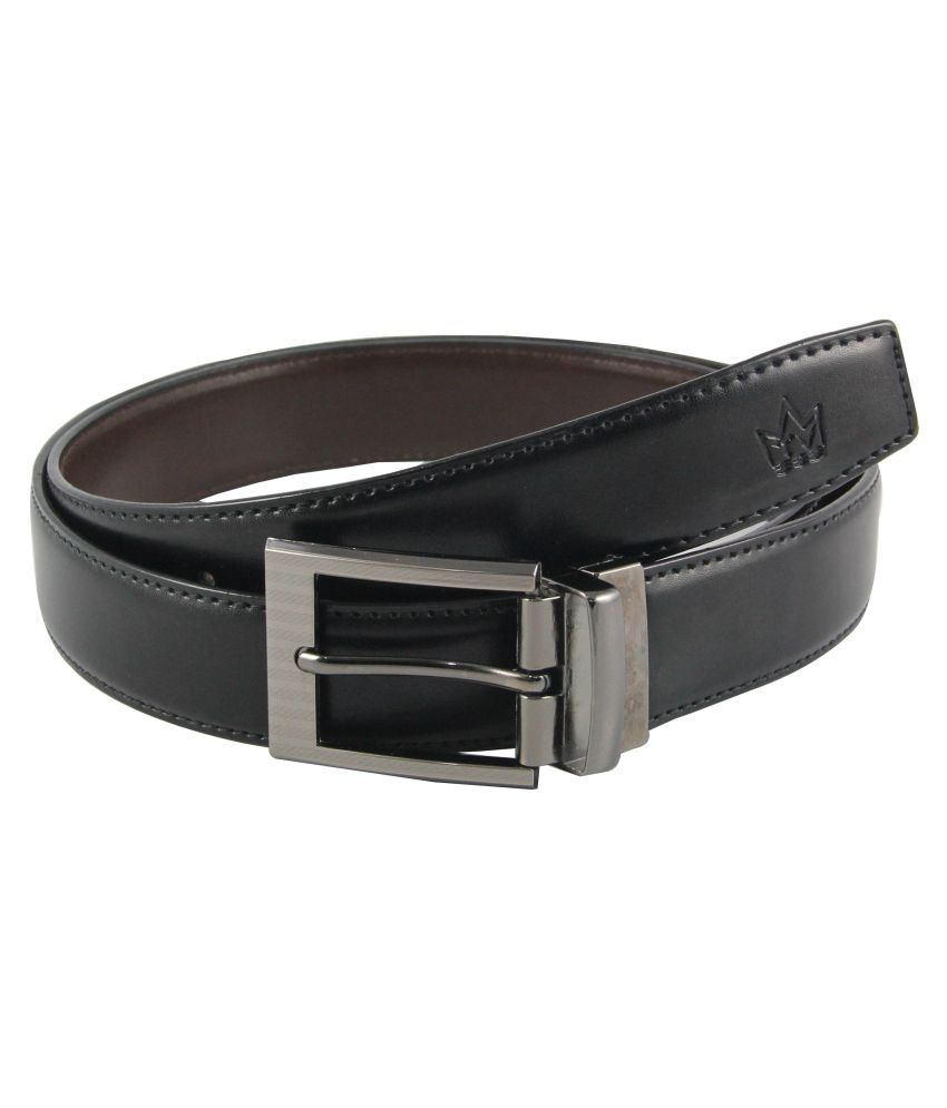 Tom Venice Black PU Formal Belts