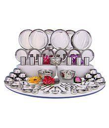 For 1470/-(80% Off) Shri & Sam Stainless Steel 70 Pcs Dinner Set at Snapdeal