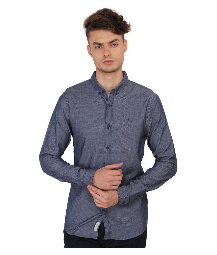 Calvin Klein Navy Casuals Slim Fit Shirt