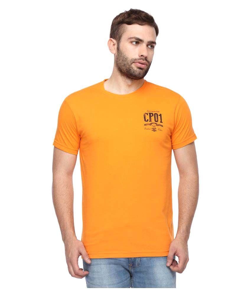 Classic Polo Orange Round T-Shirt