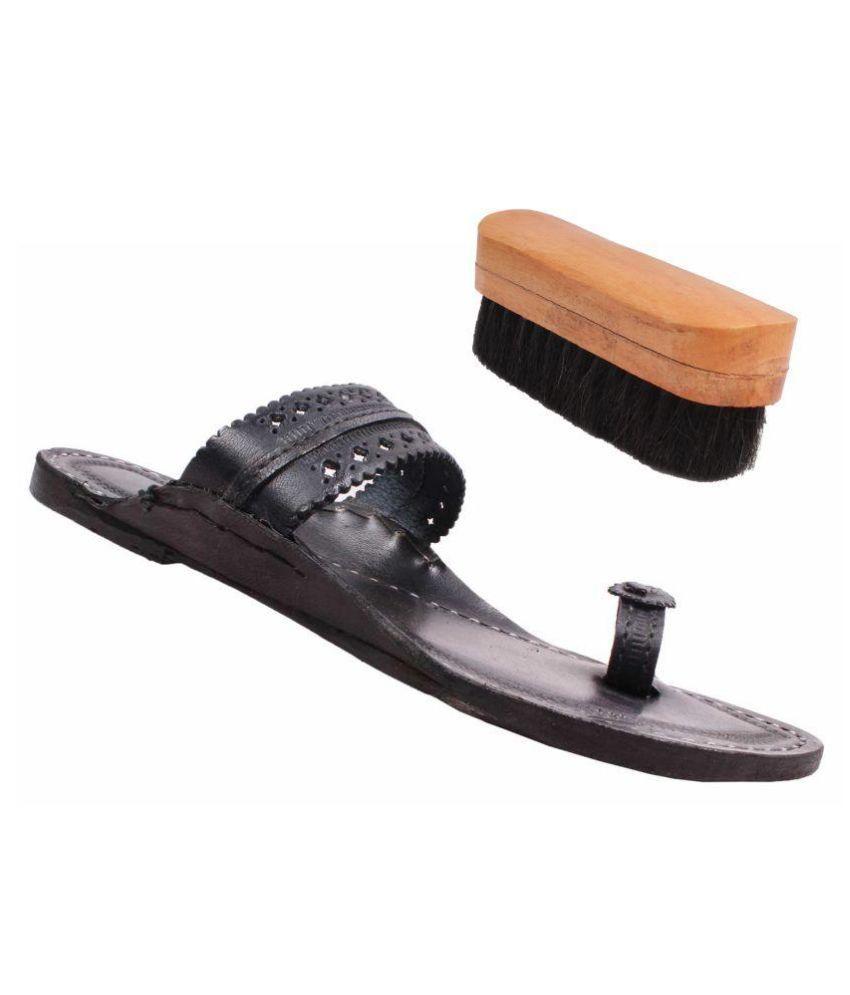 Jstarmart Black Flat Ethnic Footwear