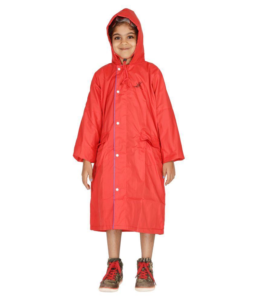 Zeel Red Polyester Coats