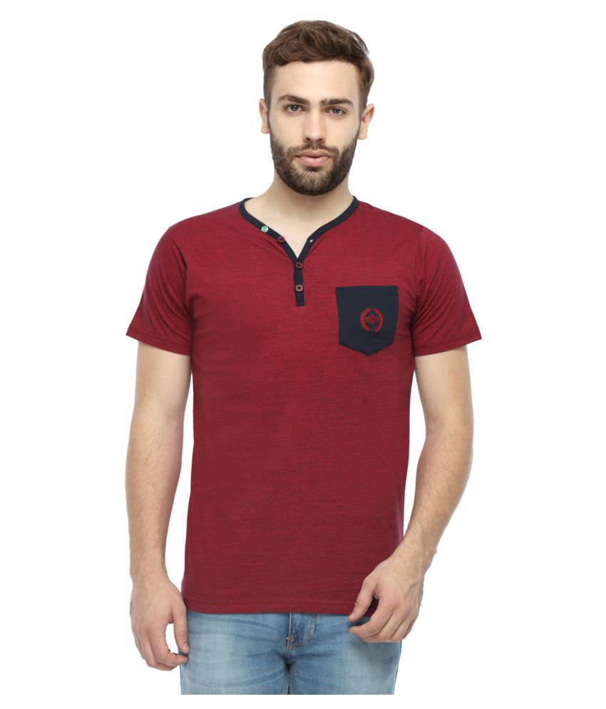 Classic Polo Maroon Henley T-Shirt