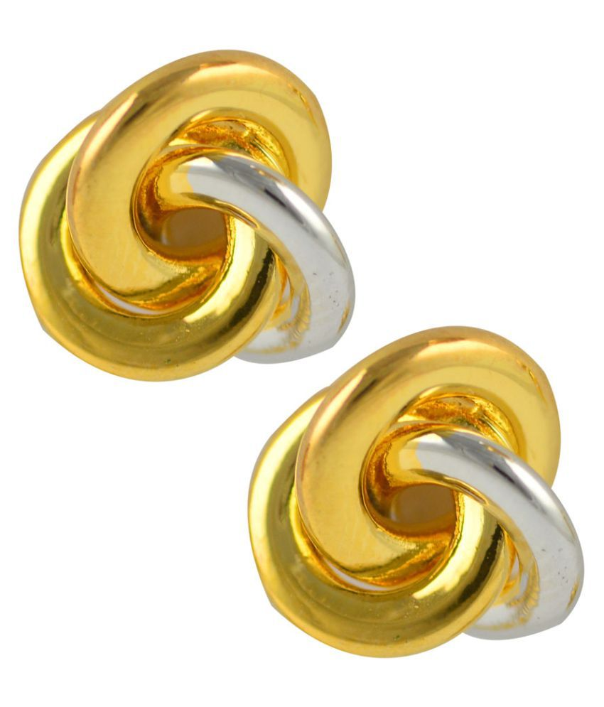 Glitters Online Golden Stud Earrings