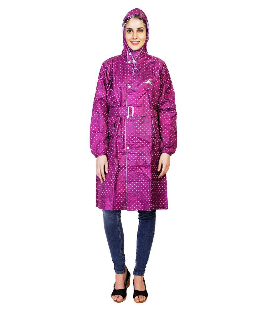 Zeel Purple Polyester Short Rainwear