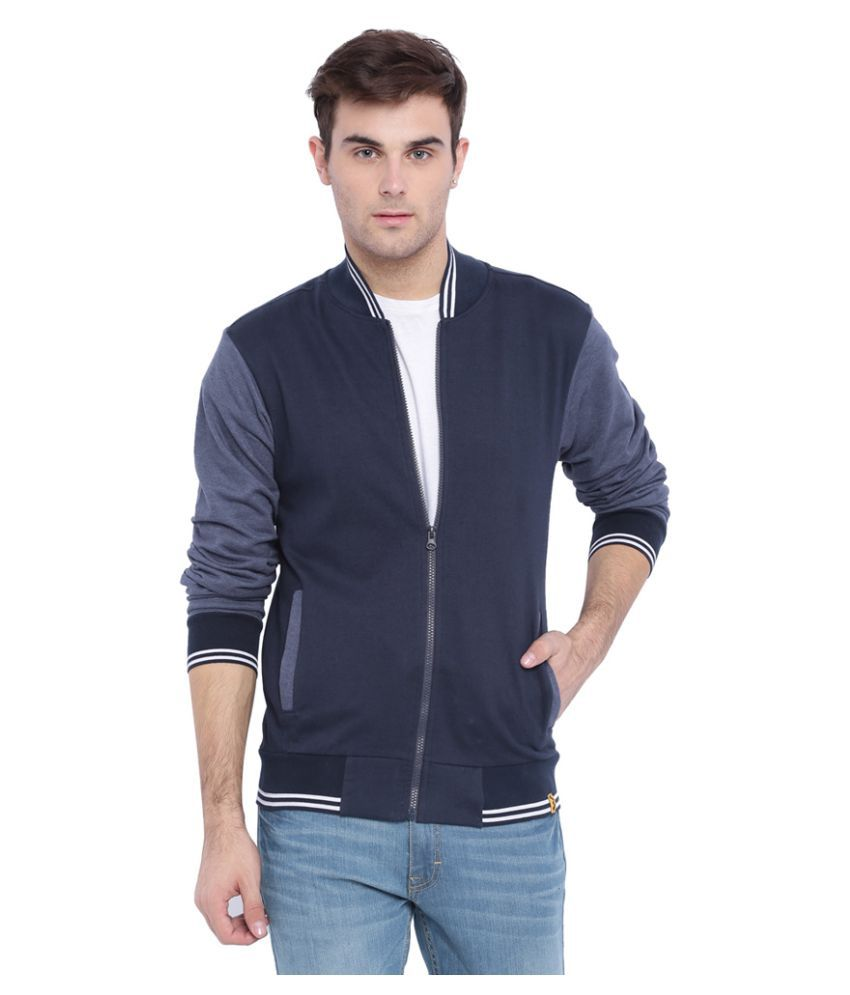 Winter Warm Up!! Upto 60% off On Hoodies, Jackets & More By Snapdeal | Campus Sutra Navy Cotton Casual Jacket @ Rs.695