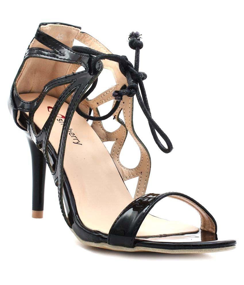Shuberry Black Stiletto Heels