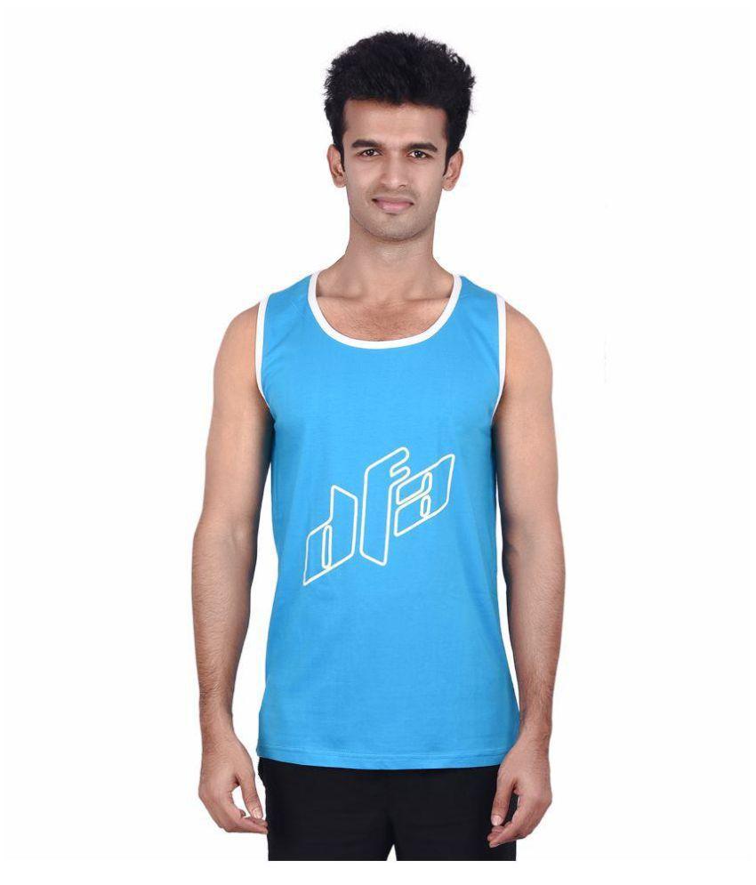 DFA Blue Cotton T-Shirt Single Pack