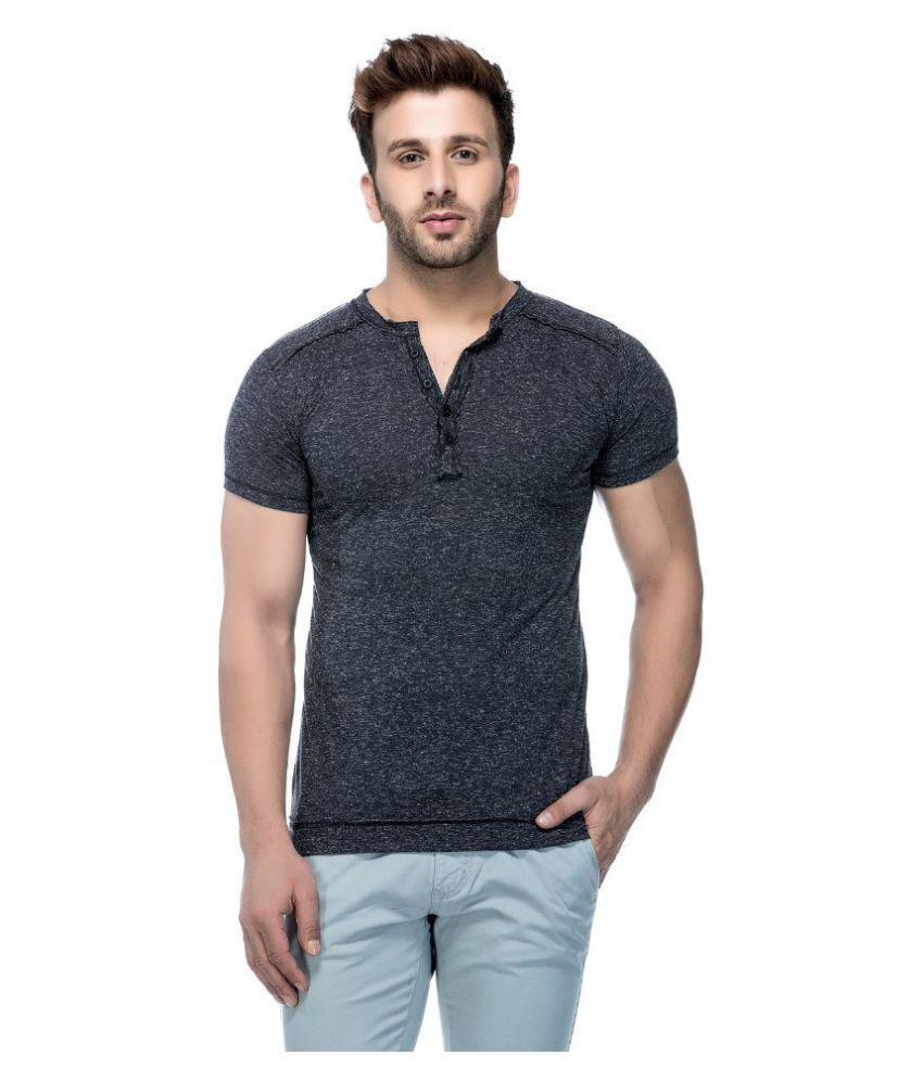 Tinted Black Henley T-Shirt