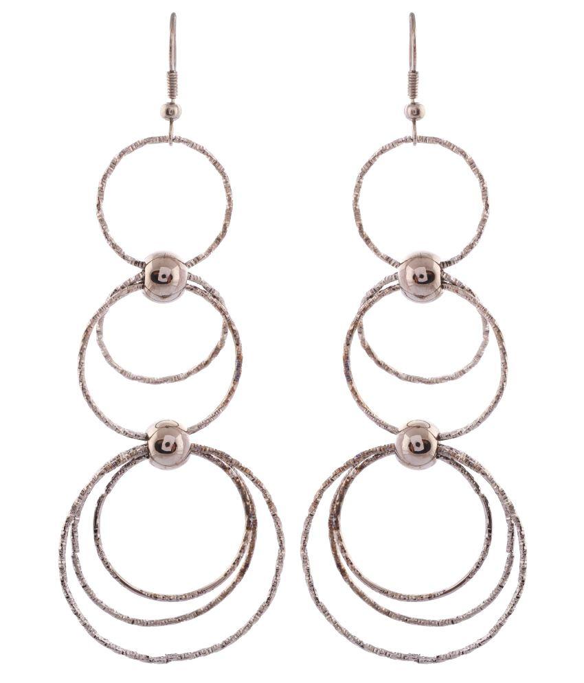 Saadgi Silver Hanging Earrings