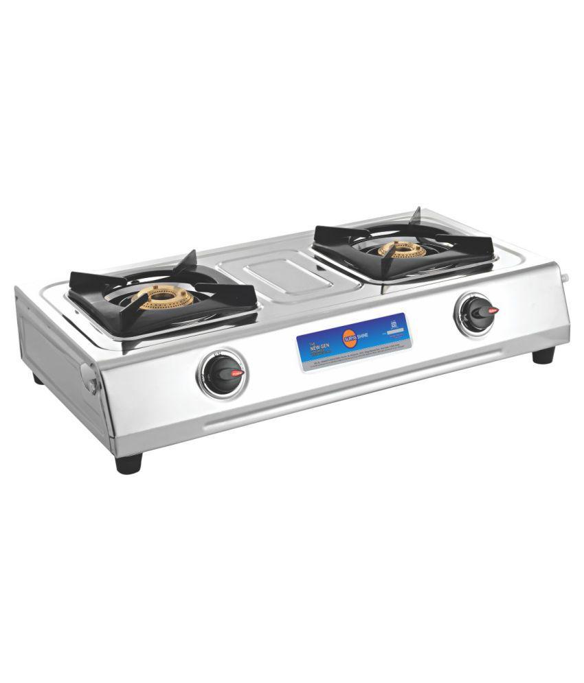 Surya Shine SUR622BB Manual Gas Cooktop (2 Burner)